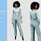 Pants Sims 4 Suit N34
