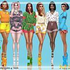 Paranormal Shirt Bottom Sims 4 Recolors