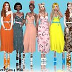 Paranormal Sims 4 Dress 2 Recolors
