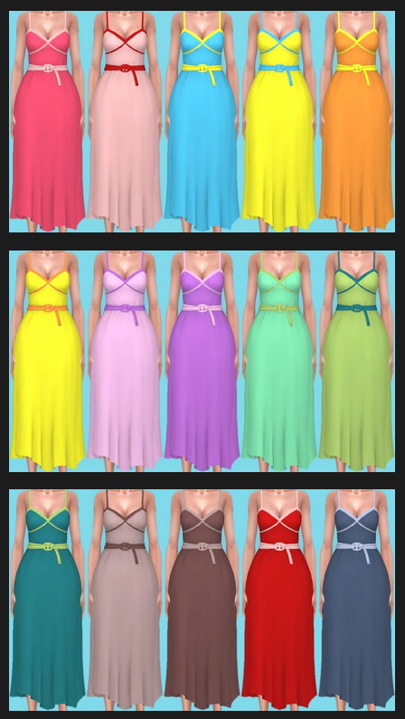 Sims 4 Paranormal Dress 2 Recolors at Annett's Sims 4 Welt