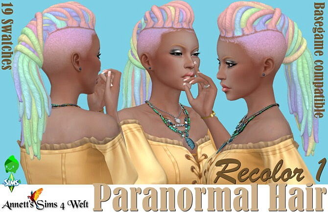Sims 4 Paranormal Hair Recolors 1 at Annett's Sims 4 Welt