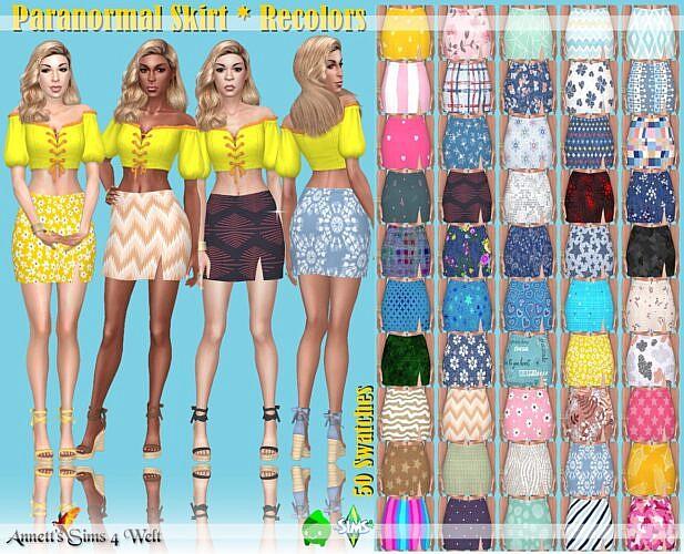 Paranormal Sims 4 Skirt Recolors
