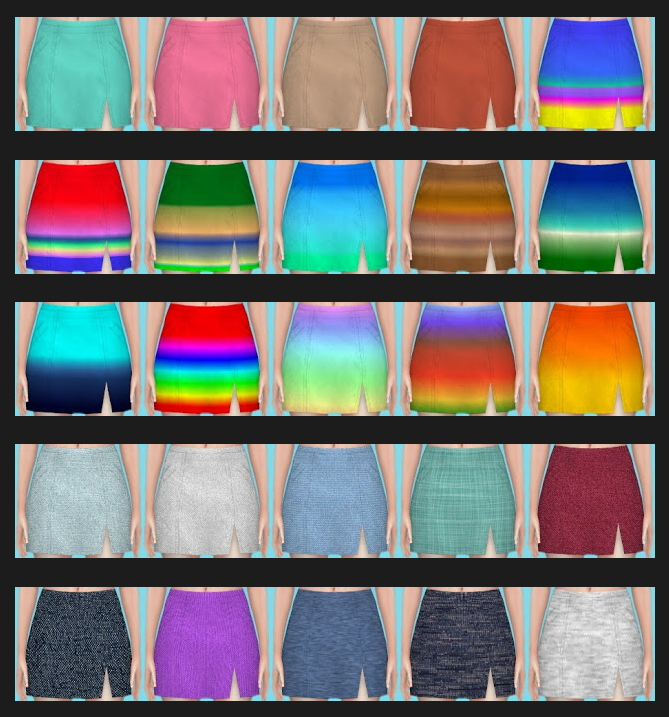 Sims 4 Paranormal Skirt Uni Recolors at Annett's Sims 4 Welt