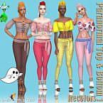 Paranormal Sims 4 Top Bottom Recolors