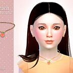 Peach Child Sims 4 Necklace