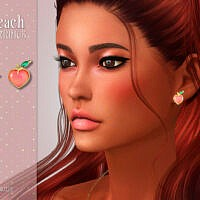 Peach Sims 4 Earrings