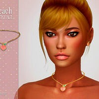 Peach Sims 4 Necklace