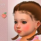 Peach Toddler Sims 4 Earrings