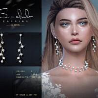 Pearl Earrings Sims 4