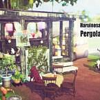 Pergola Sims 4 Trellis Set