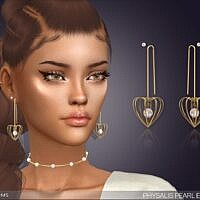 Physalis Pearl Sims 4 Earrings With Piercing
