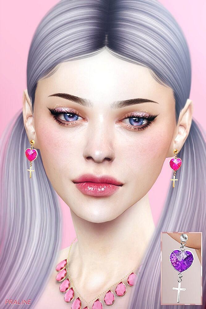 Sims 4 Piercing & Earrings Set at Praline Sims