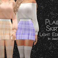 Plaid Sims 4 Skirt Light Edition