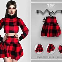 Plaid Skirt Set 111 Skirt Bd421