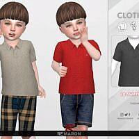 Polo Shirt Sims 4 For Toddler 01