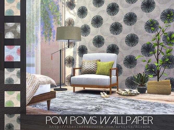 Pom Poms Sims 4 Wallpaper