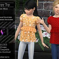Poppy Sims 4 Top For Kids