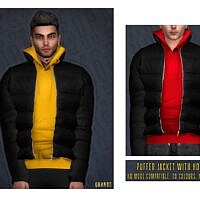 Puffer Sims 4 Jacket With Sweater