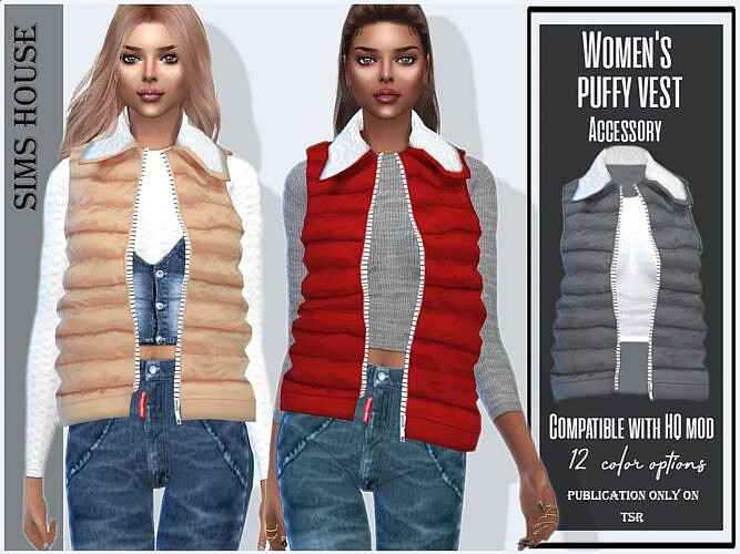 Puffy Sims 4 Vest