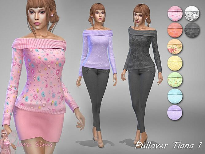 Pullover Sims 4 Tiana 1