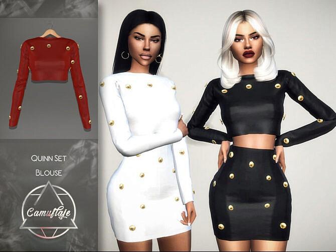 Sims 4 Quinn Blouse by Camuflaje at TSR