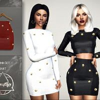 Quinn Sims 4 Skirt By Camuflaje