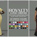 Royalty Sims 4 Long Formal Dress
