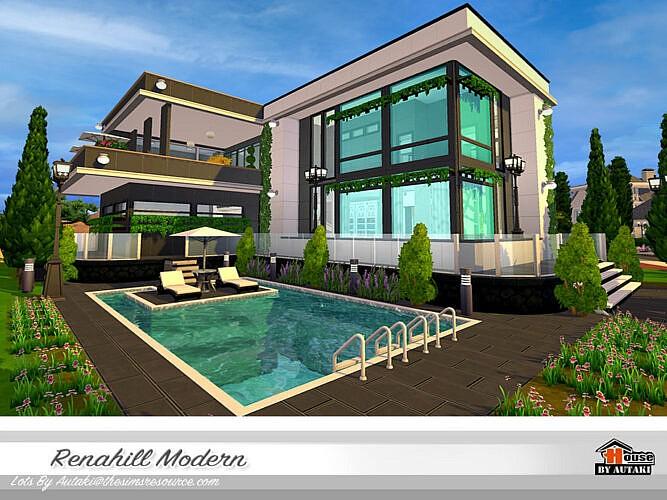 Renahill Modern Sims 4 Home No Cc