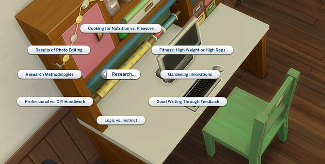 Sims 4 Research Options for All Computers by adeepindigo at Mod The Sims 4