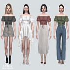 Ribbon Sims 4 Blouse