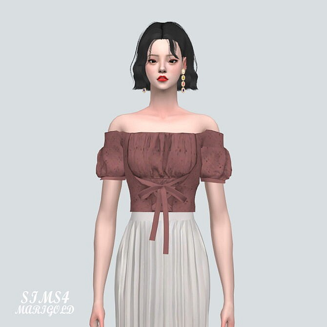 Sims 4 Ribbon Blouse BT 2 at Marigold