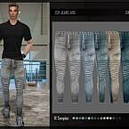 Ripped Biker Jeans Sims 4 Males
