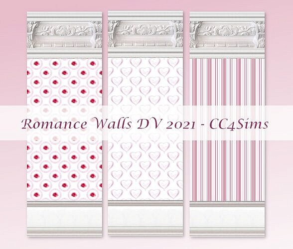 Romance Sims 4 Walls By Christine