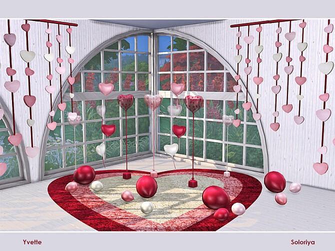 Sims 4 Yvette Romantic Dining Set by soloriya at TSR