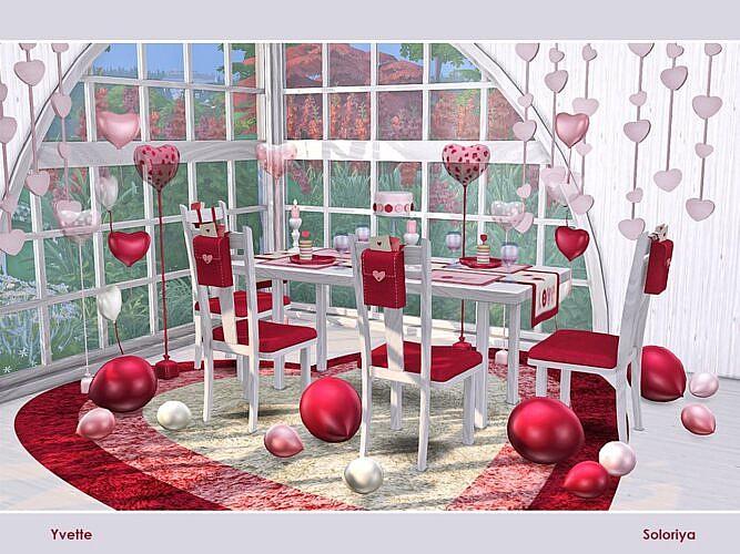 Romantic Sims 4 Dining Set Yvette