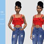 Ruffle Sims 4 Crop Top N108