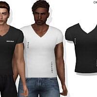 Ryan V Neck Sims 4 Shirt