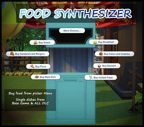 Sims 4 Food Synthesizer