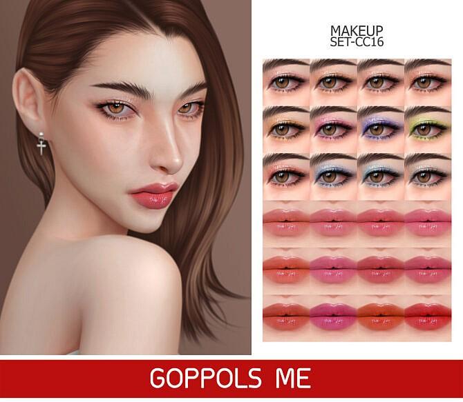 Sims 4 GPME GOLD MAKEUP SET CC16 at GOPPOLS Me