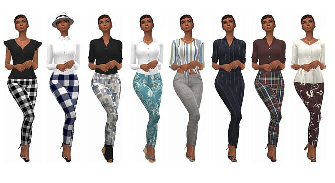 Sims 4 SP01 CROPPED PANTS at Sims4Sue