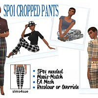 Sp01 Cropped Sims 4 Pants