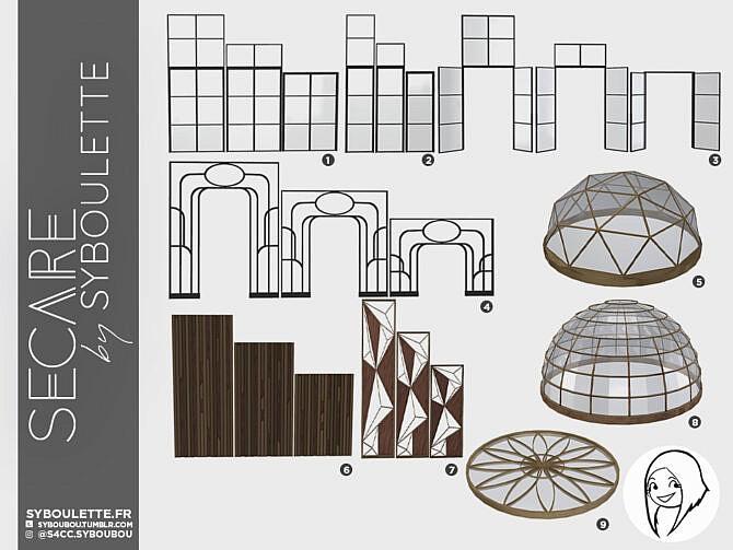Sims 4 Secare build set at Syboulette's CC