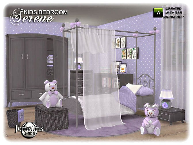 Sims 4 Serene kids bedroom by jomsims at TSR