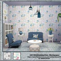 Shabbychic Sims 4 Wallpaper