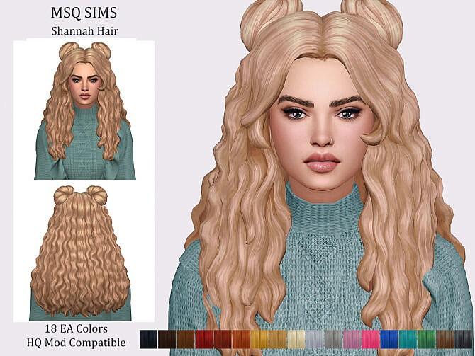 Sims 4 Shannah Hair at MSQ Sims