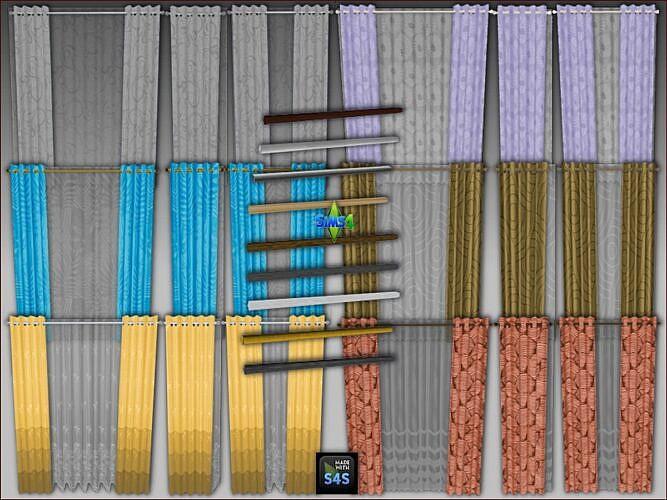 Sheer Sims 4 Curtains Medium Walls