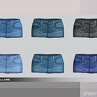Sheera Sims 4 Denim Skirt