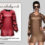 Shirt Dress Ruched Sleeve Oversized By Mermaladesimtr