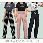 Shirt Pants Sims 4 Outfit 03