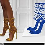 Shoes Sims 4 Strappy High Heel Sandals 626